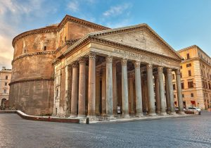 O que mais surpreende da arquitetura do Panteão Roma certamente são as medidas de sua construção