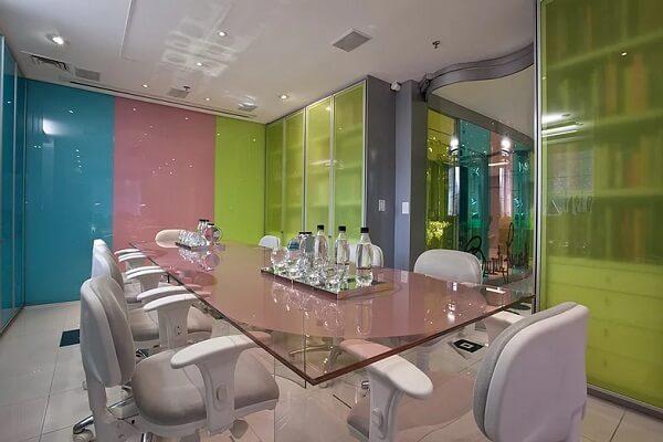 Sala de reuniões do escritório de arquitetura da Brunete Fraccaroli