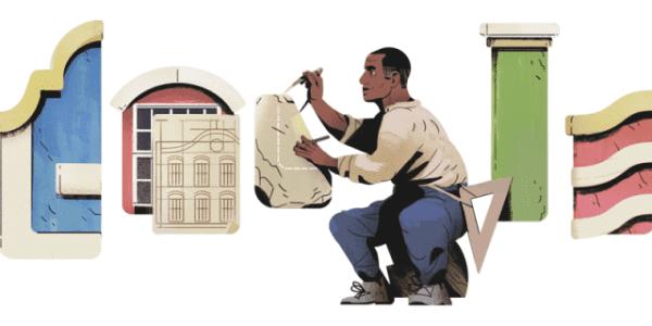 Arquiteto Tebas: doodle do Google (foto: Google)
