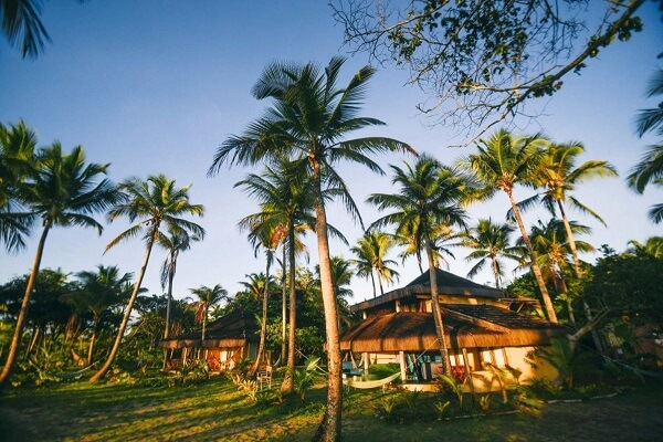 A Ecovila inkiri Piracanga está localizada em Maraú, na Bahia