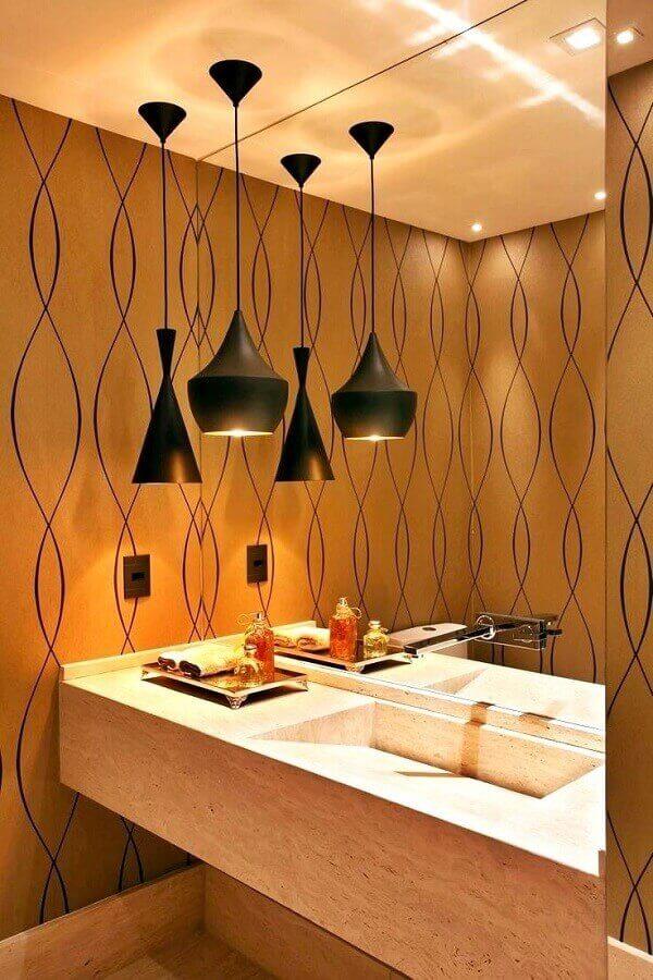 Luminária de banheiro pendente para banheiro sofisticado