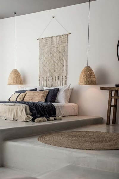 Móveis de alvenaria: cama japonesa pode ter base de alvenaria (foto: Ideias Decor)