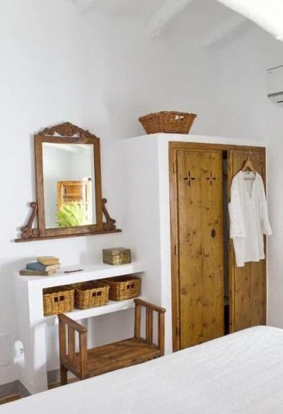 Móveis de alvenaria: guarda roupa e aparador de alvenaria (foto: Pinterest)