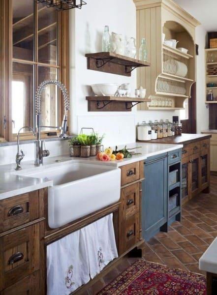 Estilos de casas simples: cozinha de casa de campo (foto: Revista Viva Decora)