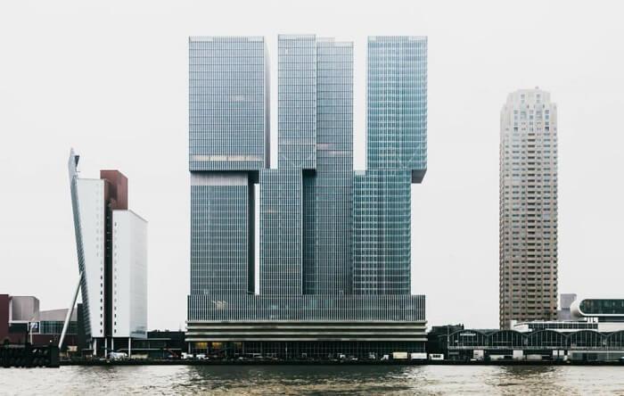 A importância do partido arquitetônico na construção do edifício De Rotterdam, em Roterdã. Fonte: ArchDaily Brasil