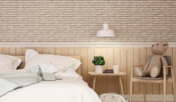 Lambris: quarto de casal com lambri (foto: Faz Fácil)