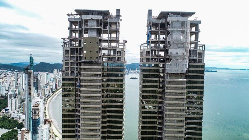 O andamento da obra do prédio mais alto do Brasil está na marca dos 75%. Foto: Divulgação Pasqualotto & GT Empreendimento