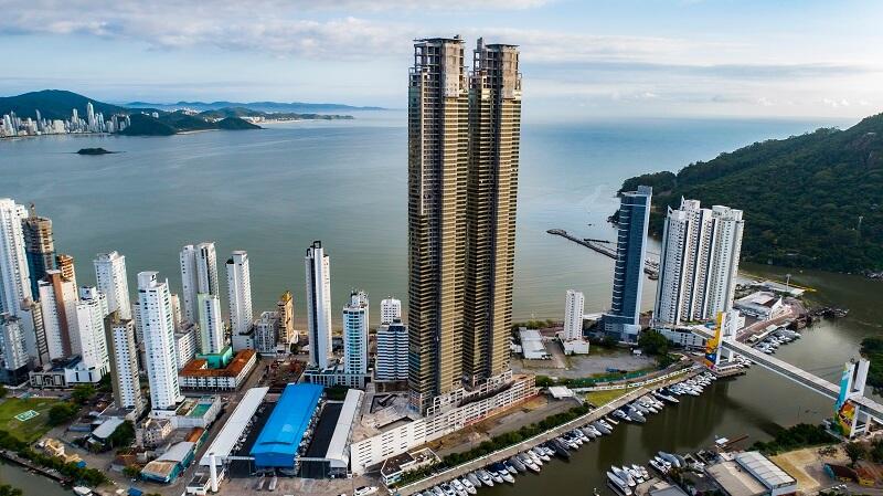 O prédio mais alto do Brasil conta com 81 andares e apresenta cerca de 281 metros de altura. Foto: Divulgação Pasqualotto & GT Empreendimentos