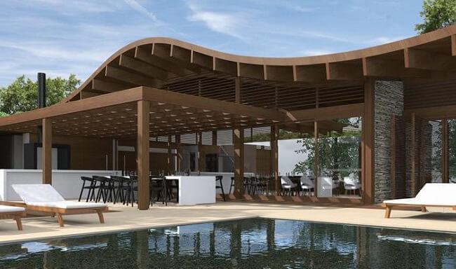 Design biofílico: Casa 88° Residencial construída no interior de São Paulo Brasil. Fonte: Galeria de Arquitetura