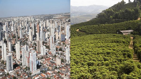 Espaço urbano: diferenças entre espaço urbano e rural (foto: Biboca Ambiental)