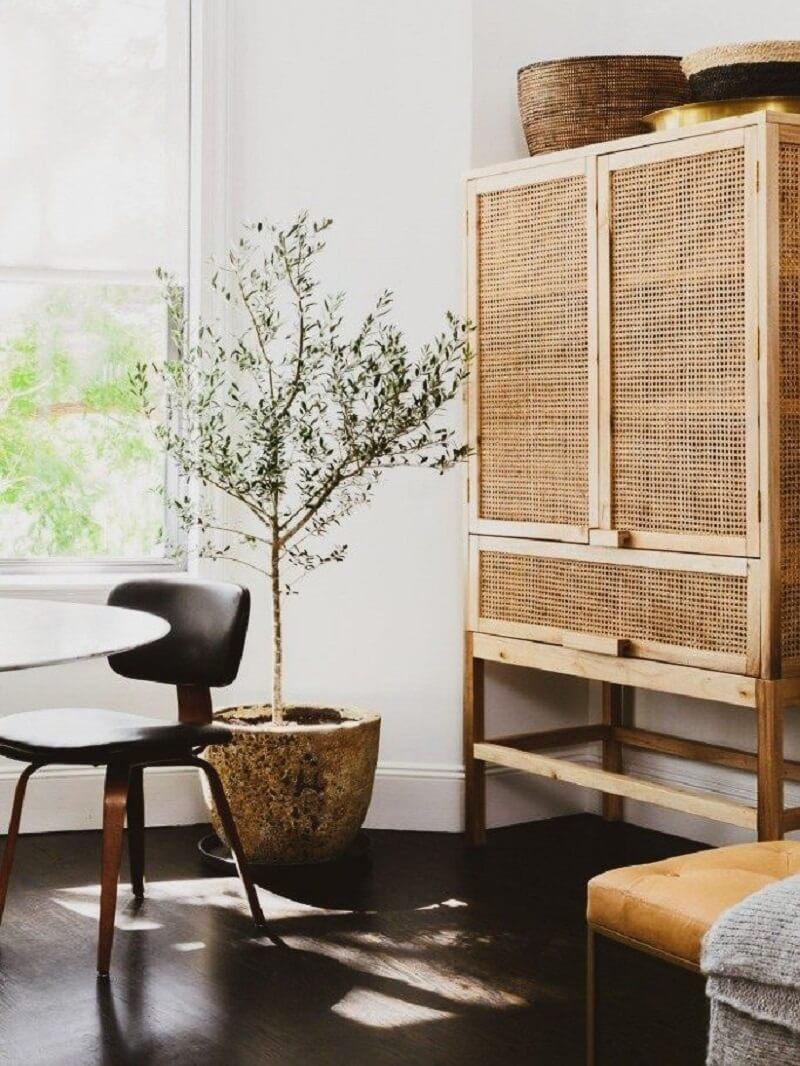 O muxarabi pode fazer parte do acabamento de móveis. Fonte:Pinterest