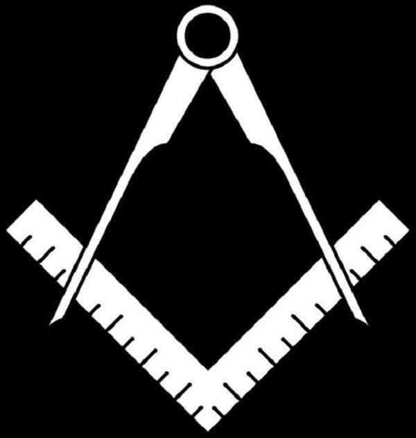 Símbolo da arquitetura é formado por dois elementos o compasso e o esquadro. Fonte: Pinterest