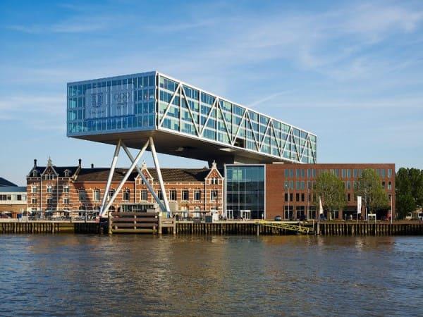 Treliça: sede da Unilever em Roterdã tem as treliças como elemento estrutural e estético (foto: ArchDaily)
