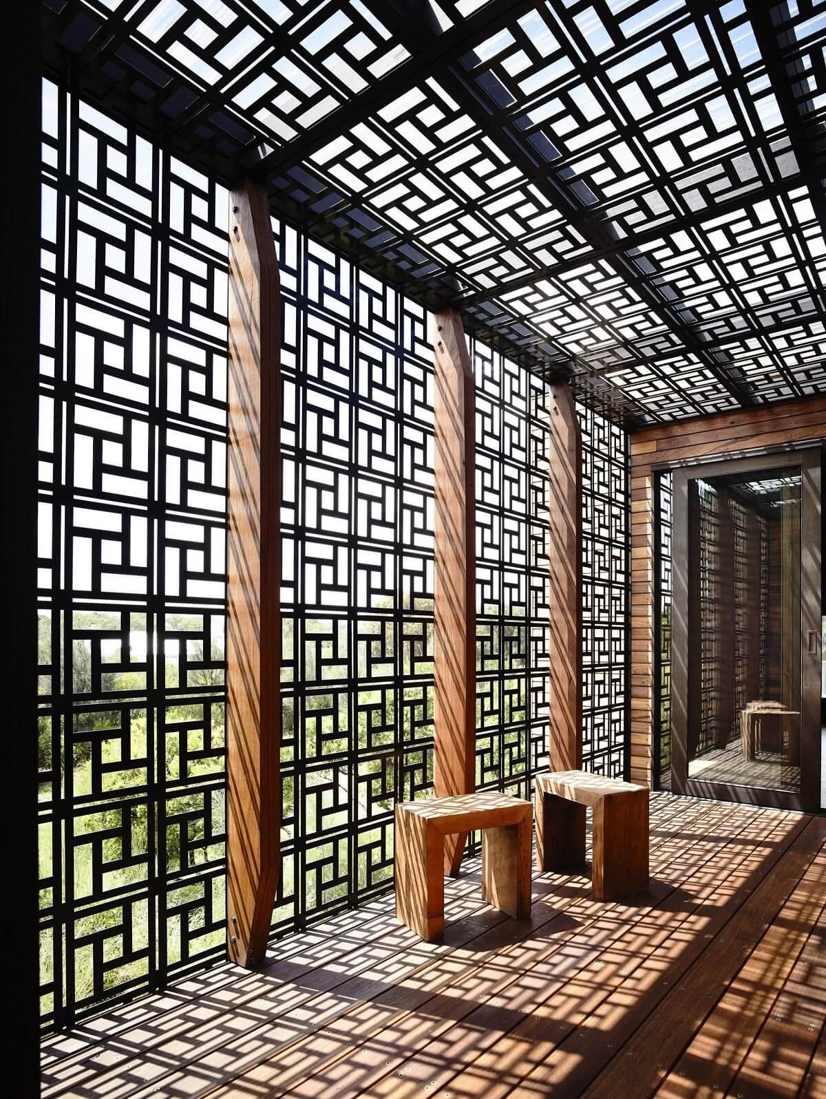 O muxarabi proporcionar maior conforto térmico nas construções. Fonte: Pinterest