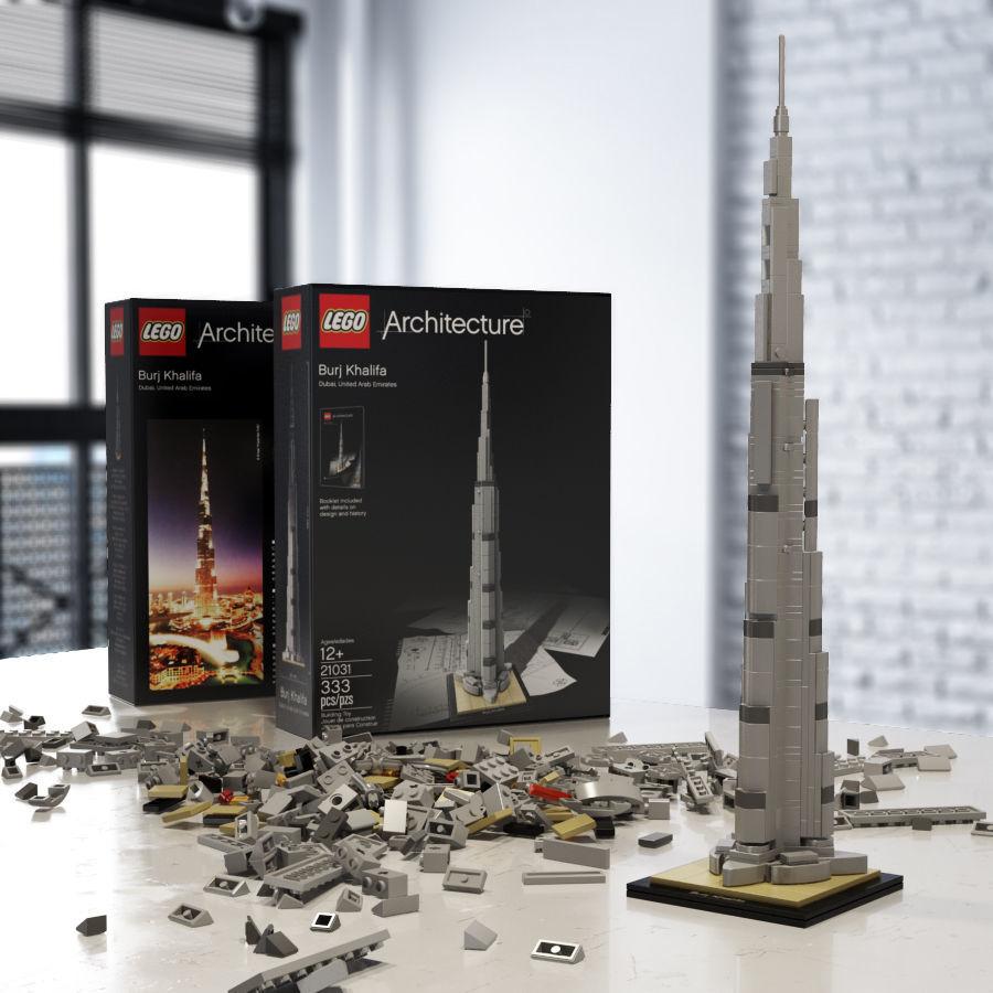 Burj Khalifa: LEGO Architecture (foto: CGTrader)