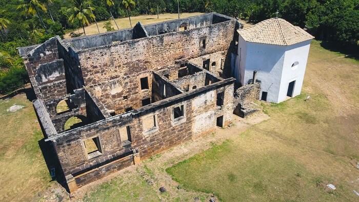 Castelos no Brasil: Castelo Garcia D'Ávila. Fonte: Fundação Garcia D'Ávila