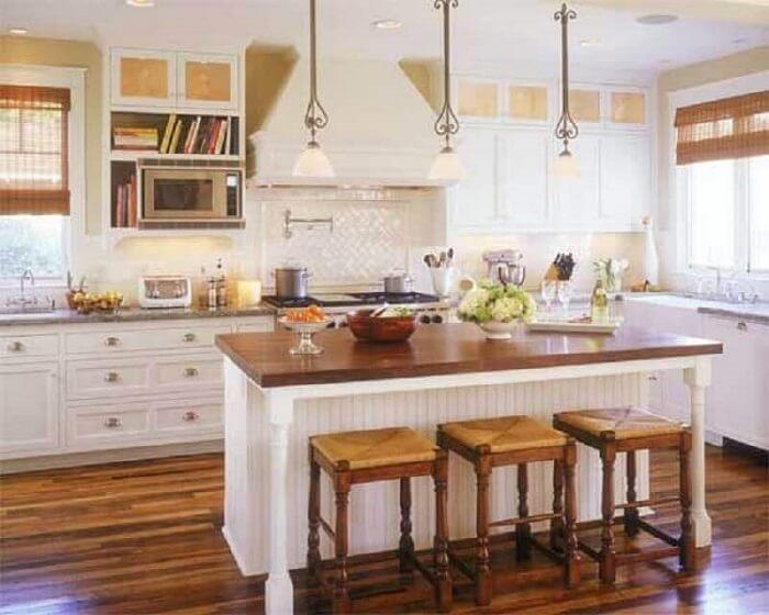 Os estilos de cozinhas com toque provençal combinam o rústico ao moderno. Fonte: Pinterest