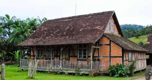Enxaimel: casa em Pomerode - SC (foto: raphanomundo)