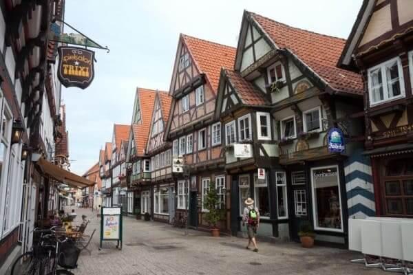 Enxaimel: obras na cidade de Celle (Alemanha) foto: Rumo a Alemanha