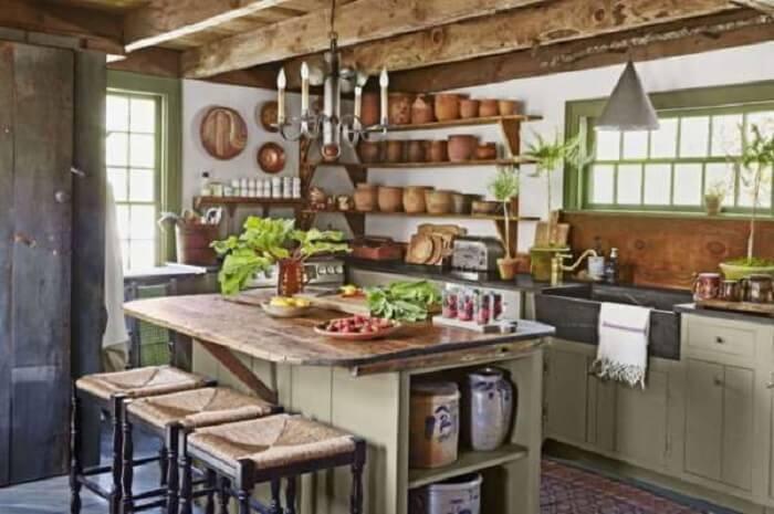 Estilos de cozinhas: a farm sink também marca presença em muitos projetos. Fonte: Pinterest