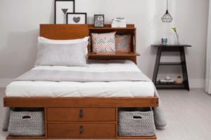 Móveis multifuncionais cama com gaveta e cabeceira foto Meu Móvel de Madeira