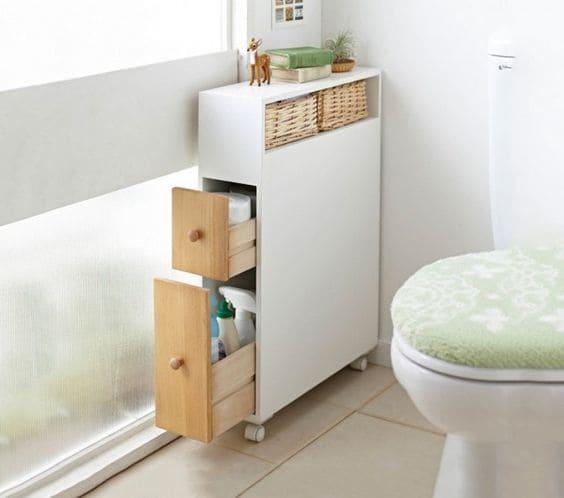 Móveis multifuncionais: mini-armário com gaveta (foto: Pinterest)