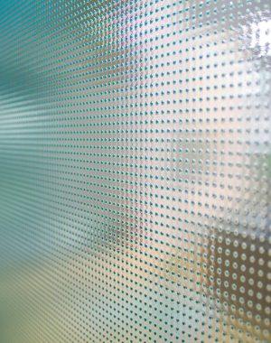 O vidro fantasia, conhecido também como vidro impresso, se trata de um tipo de vidro texturizado. Fonte: Arch Glass