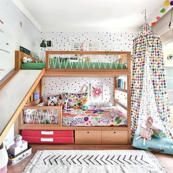 Tipos de camas: cama com escorregador (foto: Revista Viva Decora)