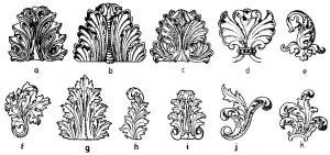 ornamento folha de acalanto foto Wikipédia