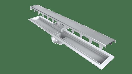Ralo de banheiro linear - detalhes (foto: Fors Arquitetura)