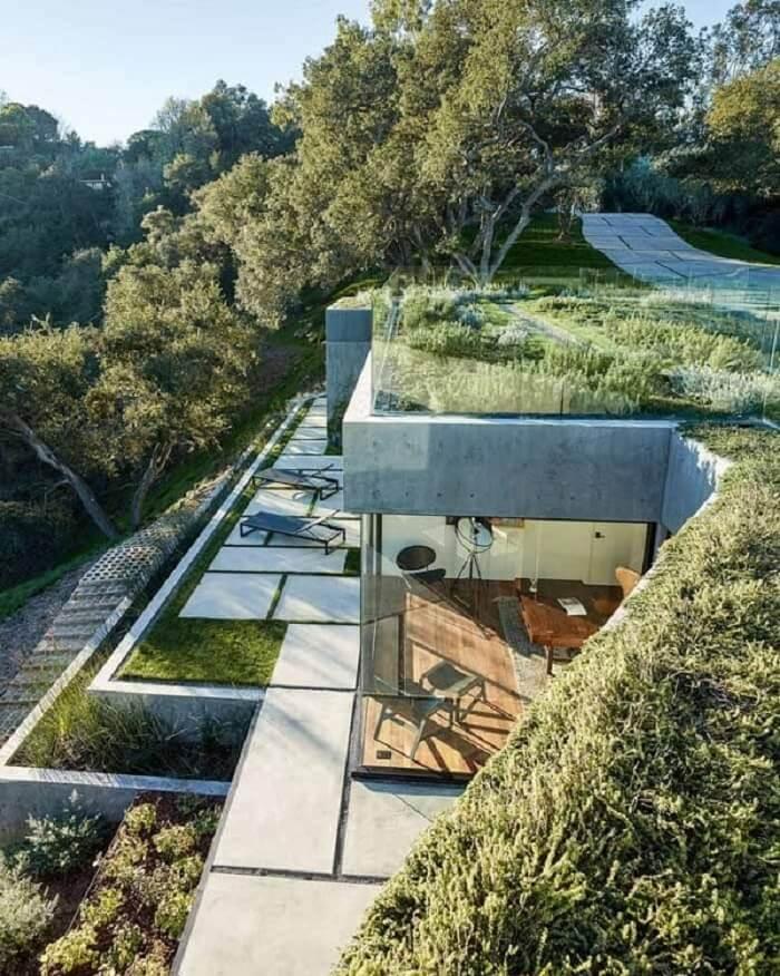 A arquitetura bioclimática é o estudo que avalia as condições climáticas do local. Fonte: Pinterest