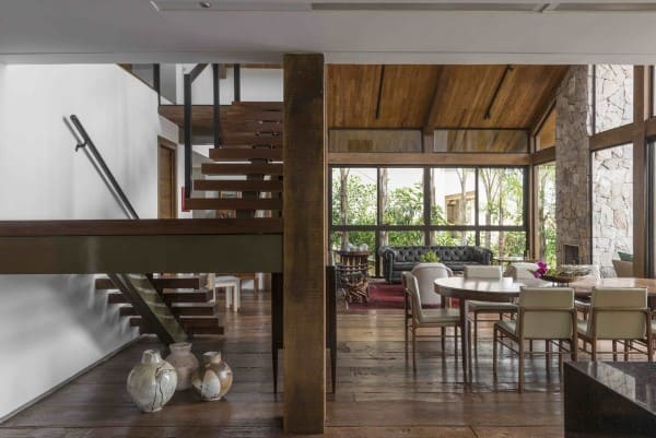 Assoalho de madeira: Casa Terraço - David Guerra (foto: Jomar Bragança)
