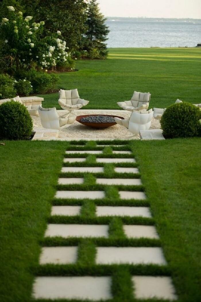 Existem diferentes tipos de pisantes para caminho de jardim. Fonte: Pinterest