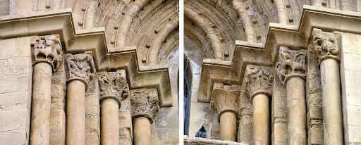 Arquitetura românica: capitéis da sé velha de coimbra (foto: Arte Medieval)