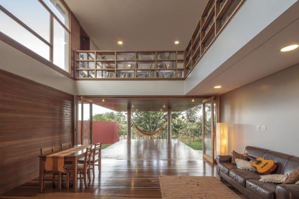 Assoalho de madeira: Casa da Copaíba - Macedo, Gomes & Sobreira (foto: Joana França)