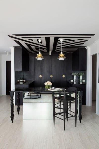 Papel de parede para teto em decoração com estilo moderno (foto: Arquidicas)