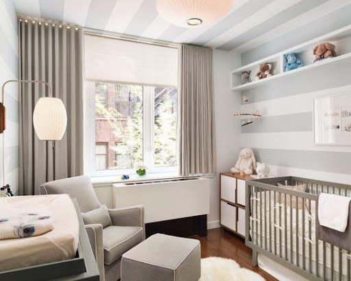 Papel de parede para teto em quarto de bebê (foto: Quarto para Bebê)