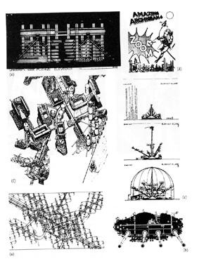 Archigram: desenhos do grupo (foto: territorios.org)
