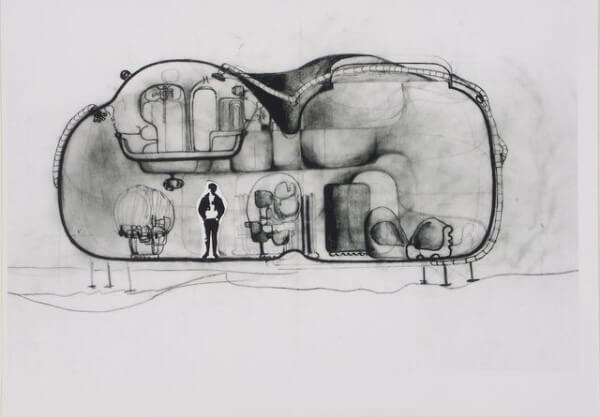 Archigram: Living Pod - interior (foto: Pinterest)