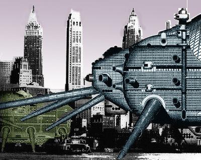 Archigram Walking City - Ron Herron (1964) (foto: Coisas da Arquitetura)