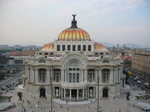 Arquitetura eclética Palacio de Bellas Artes, México foto Wikipédia