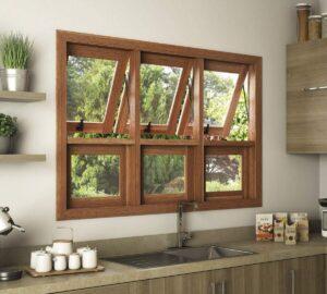 Descubra quais modelos de janela de cozinha podem fazer parte do seu projeto. Fonte: Pinterest