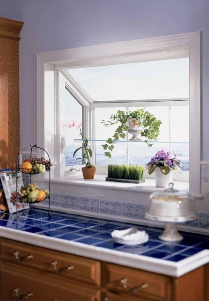 Janela de cozinha Bay Window. Fonte: Pinterest