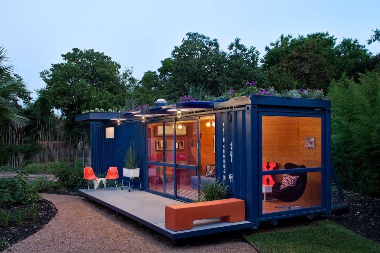 Mini casas com container fazem sucesso (foto: POTEET ARCHITECTS)
