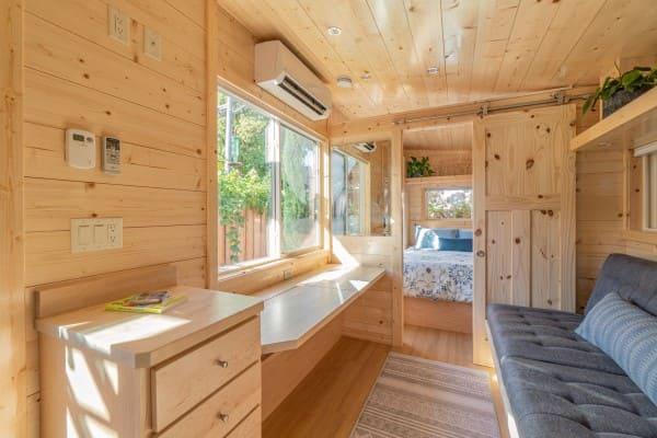 11. Mini casas de madeira: estrutura de madeira clara (foto: MiCasa)