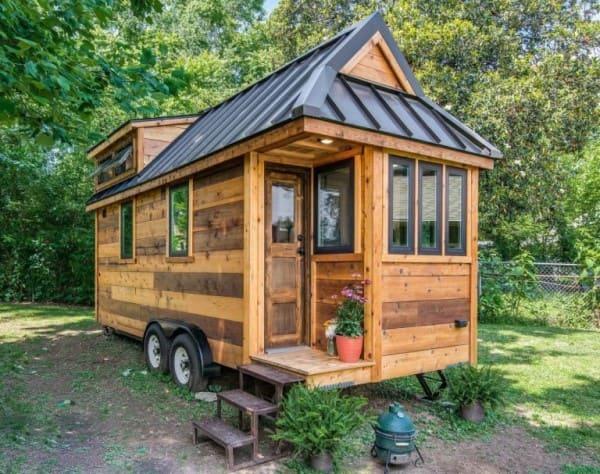 2. Mini casa de madeira sobre rodas (foto: Sul Módulos)