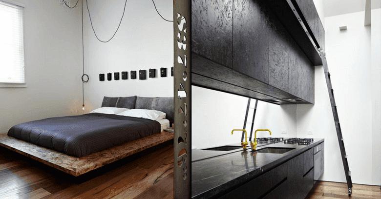 OSB pintado em móveis dá aspecto moderno (foto: Arte da Marcenaria Moderna)