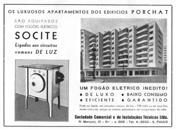 Rino Levi: folheto do Edifício Porchat (foto: Quando a Cidade)