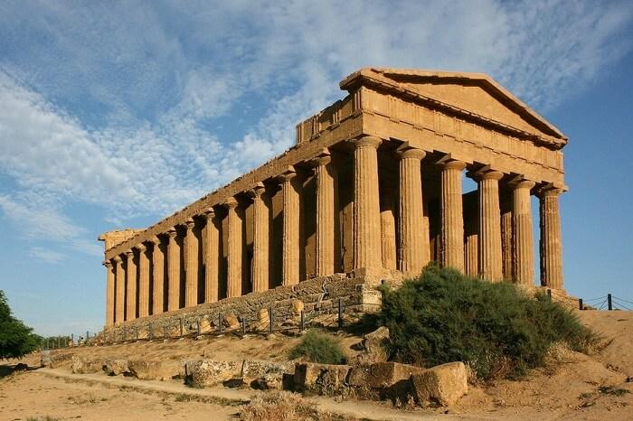 Templos gregos: o Templo de concódia está localizado no Vale dos Templos em Agrigento. Foto: Hisour
