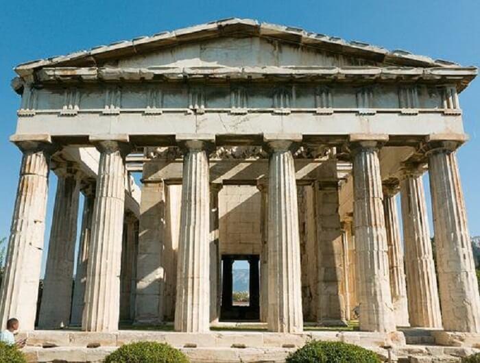 Templos gregos: o templo de Hefesto também se encontra na cidade de Atenas. Foto: Michael Dant
